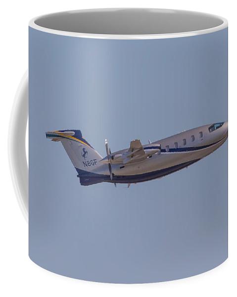 Piaggio Coffee Mug featuring the photograph Piaggio P-180 by Dart and Suze Humeston