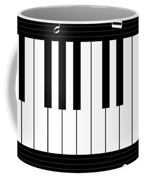 Abstract Coffee Mug featuring the digital art Piano And Music Background by Serena King