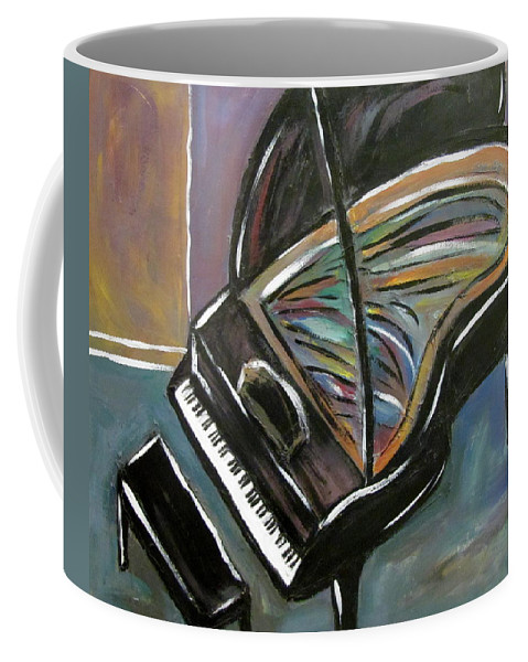 Impressionist Coffee Mug featuring the painting Piano with High Heel by Anita Burgermeister