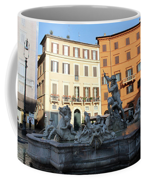 Piazza Navona Coffee Mug featuring the photograph Piazza Navona Rome by Munir Alawi