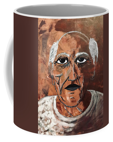 Art Coffee Mug featuring the painting Picasso The Bull In Winter by Edward Paul
