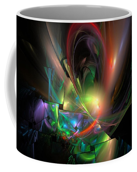 Fantasy Coffee Mug featuring the digital art Picassoractal by David Lane