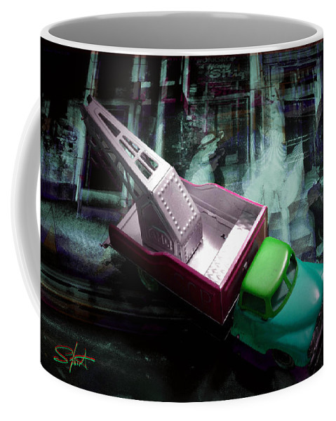 Marilyn Coffee Mug featuring the photograph Pick Up On Marilyn by Charles Stuart