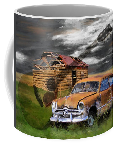 Digital Painting Coffee Mug featuring the painting Pickin Out Yesterday by Susan Kinney