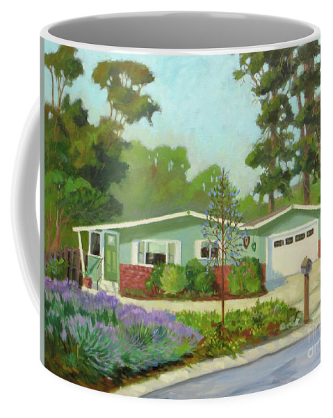 Pacific Grove Coffee Mug featuring the painting Pico Place by Rhett Regina Owings