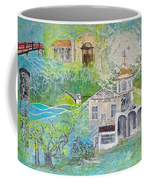 Picture City Coffee Mug featuring the painting Picture City by Natalie L