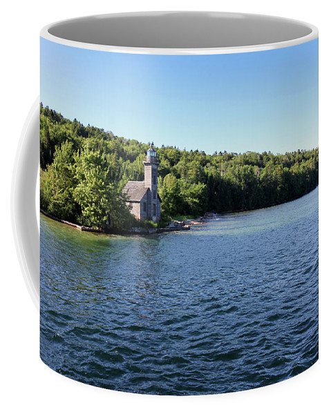 Lighthouse Coffee Mug featuring the photograph Pictured Rocks Lighthouse by Jackson Pearson