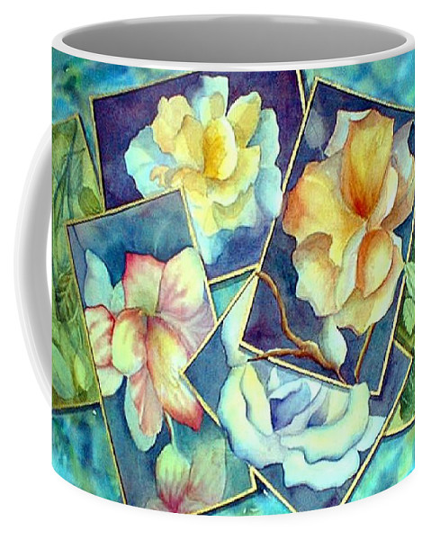Watercolor Coffee Mug featuring the painting Pictures At An Exhibition by Debbie Lewis