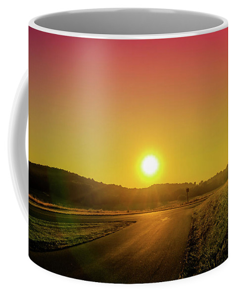 Road Coffee Mug featuring the photograph Picturesque Sunset by Howard Roberts