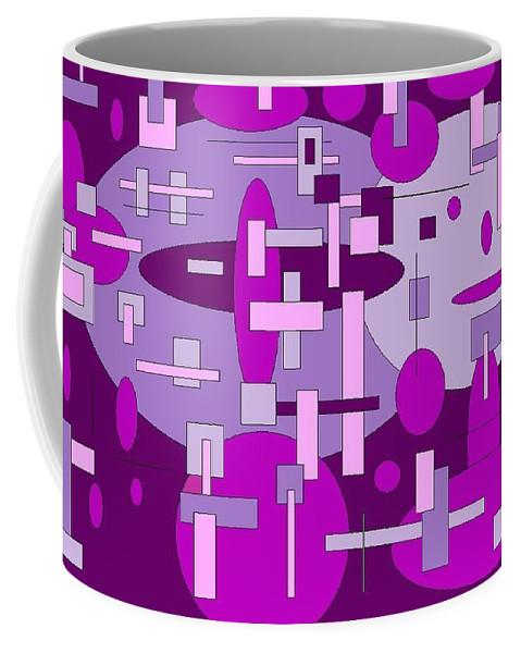 Digital Artwork Coffee Mug featuring the digital art Piddly by Jordana Sands