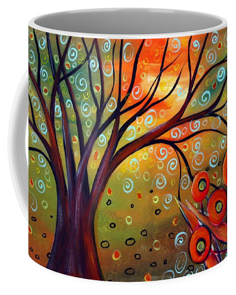 Landscape Coffee Mug featuring the painting Piece Of Eden by Luiza Vizoli