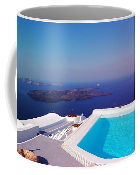Mediterranean Coffee Mug featuring the photograph Piece Of Mediterranean Paradise by Yuri Hope