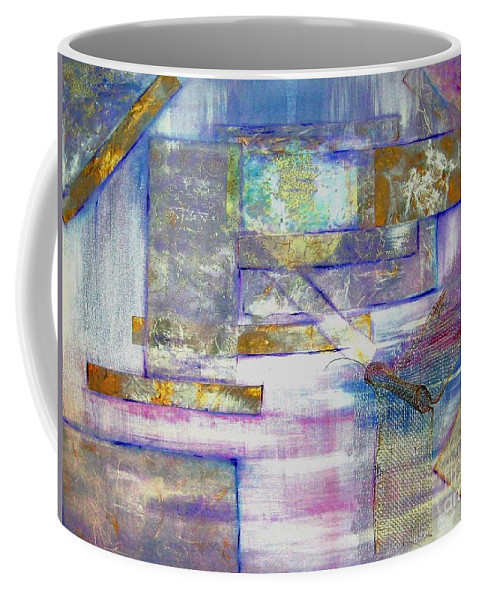 Collage Coffee Mug featuring the painting Pieces Of April by Sandy Ryan