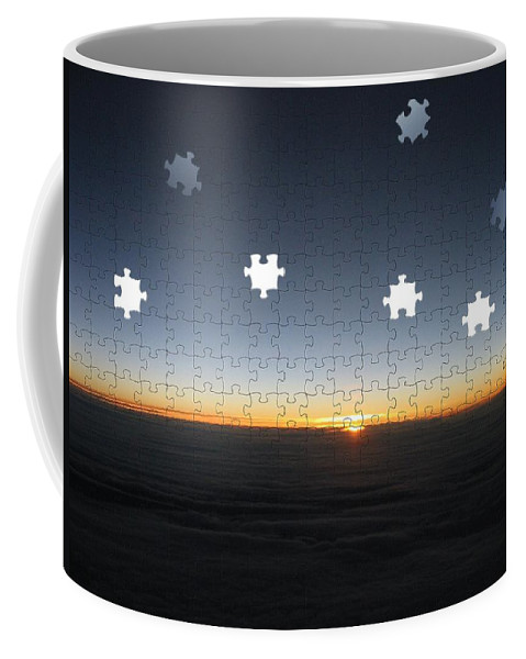 Sunrise Coffee Mug featuring the photograph Piecing Together A New Day by Tim Allen