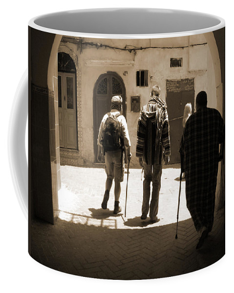Medina Coffee Mug featuring the photograph Pied A Terre by Fay Lawrence