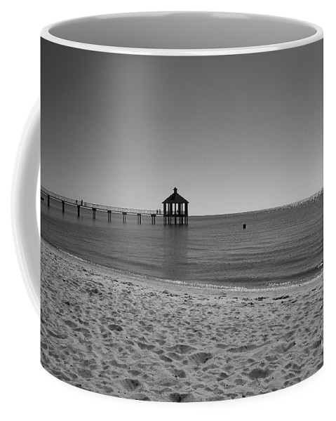 Pier Coffee Mug featuring the photograph Pier At Lake Pontchartrain by Barry Goble