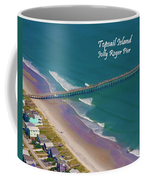 Topsail Island Coffee Mug featuring the photograph Pier Tastic by Betsy Knapp