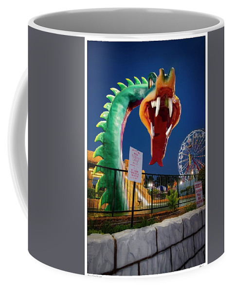 Kid Fun Coffee Mug featuring the photograph Pigeon Forge Dragon by Gary Warnimont