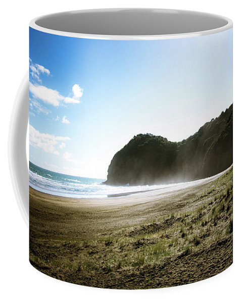 Beach Coffee Mug featuring the photograph Piha, New Zealand by Dave White