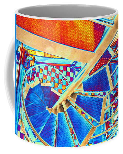 Seattle Coffee Mug featuring the digital art Pike Brewpub Stair by Tim Allen