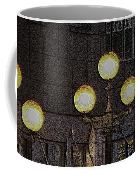 Seattle Coffee Mug featuring the digital art Pike Lights by Tim Allen