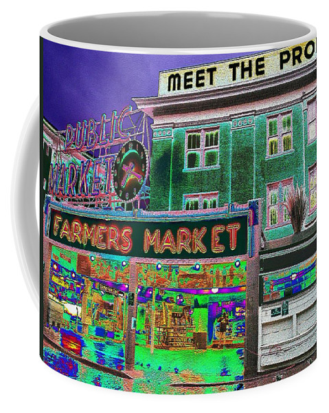 Seattle Coffee Mug featuring the photograph Pike Place Market by Tim Allen