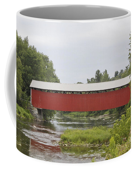 Covered Coffee Mug featuring the photograph Pike River Canada by Deborah Benoit