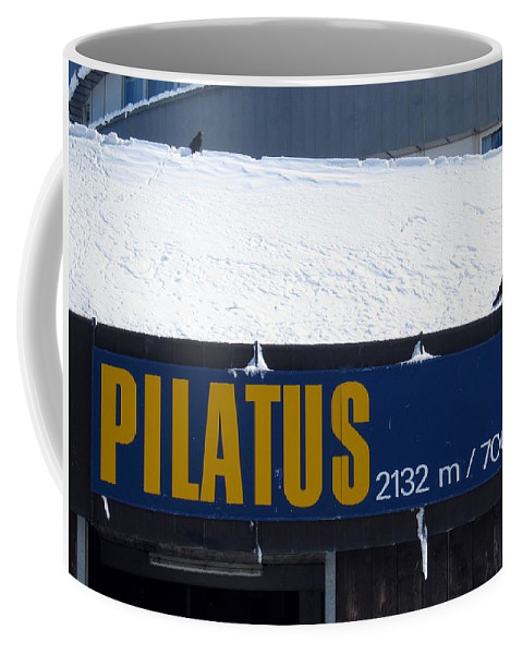 Signage Coffee Mug featuring the photograph Pilatus by Dylan Punke