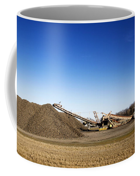 Beet Coffee Mug featuring the photograph Pile Of Sugar Beets by Donald Erickson