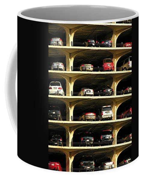 Cars Coffee Mug featuring the mixed media Piled High by Diane Greco-Lesser