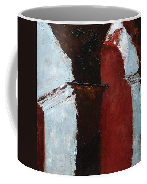 Pillars Coffee Mug featuring the painting Pillars Of Society by Barbara Andolsek