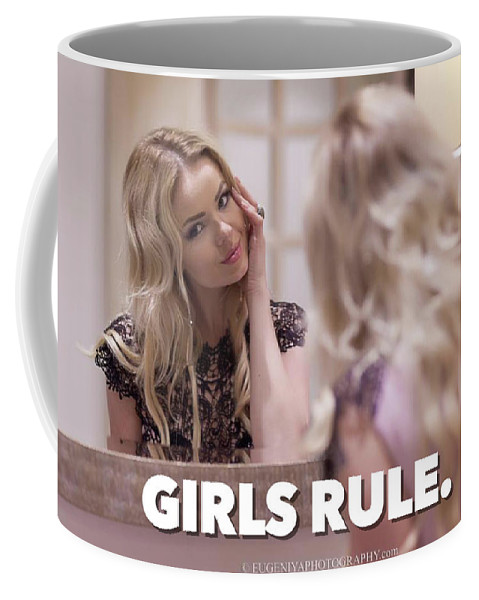 Girls Coffee Mug featuring the photograph Pin Up Model Tatiana 4 by Tatiana 4