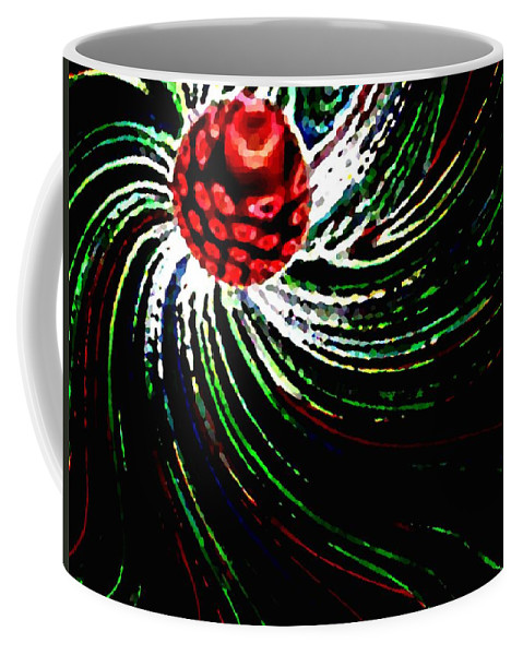 Abstract Coffee Mug featuring the digital art Pine Cone Abstract by Will Borden