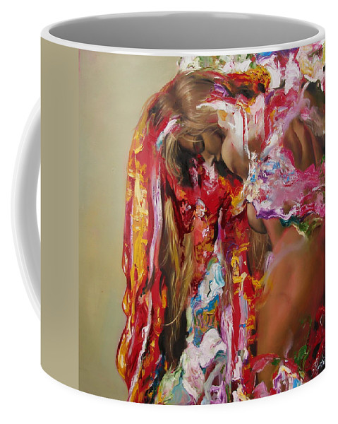 Ignatenko Coffee Mug featuring the painting Pine by Sergey Ignatenko