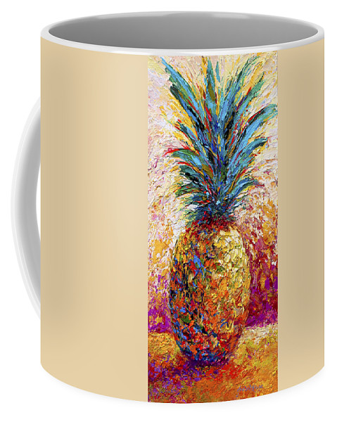 Pineapple Coffee Mug featuring the painting Pineapple Expression by Marion Rose