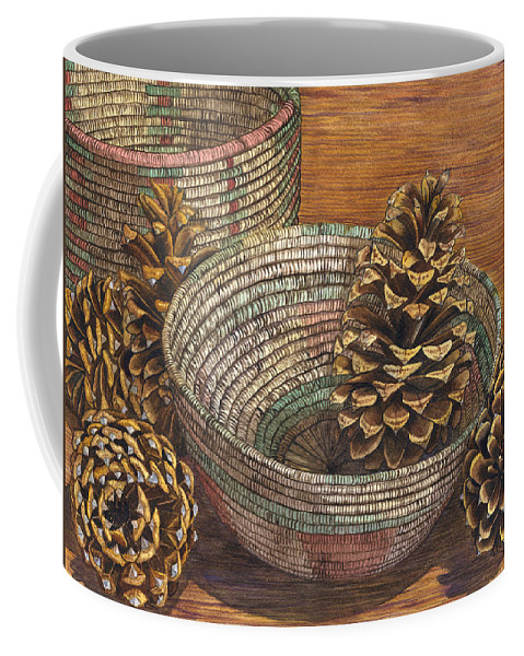 Pinecone Coffee Mug featuring the painting Pinecones by Catherine G McElroy