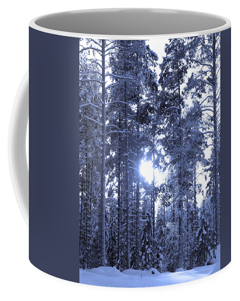 Lehtokukka Coffee Mug featuring the photograph Pines 4 by Jouko Lehto