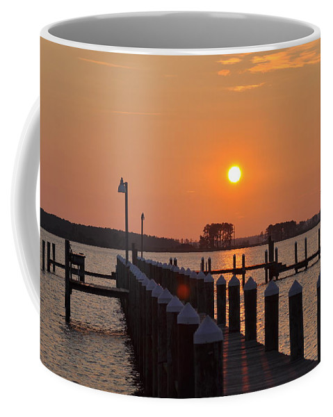 Piney Point Coffee Mug featuring the photograph Piney Point Sunrise by Bill Cannon