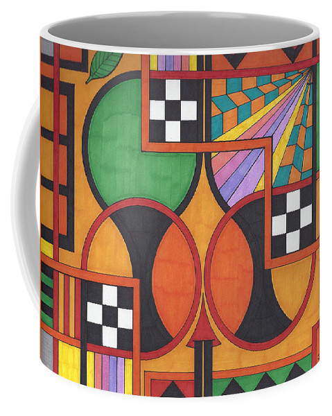 Coffee Mug featuring the drawing The Art Of God by Johnny Huff