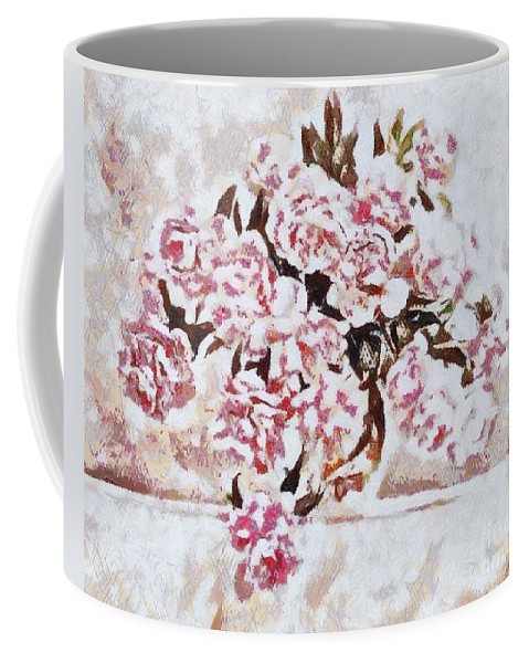 Pink And Beautiful Coffee Mug featuring the painting Pink And Beautiful by Catherine Lott