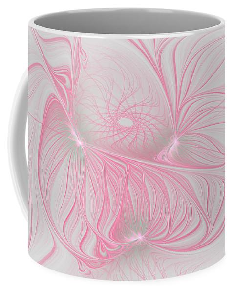 Fractal Coffee Mug featuring the digital art Pink Anyone by Deborah Benoit