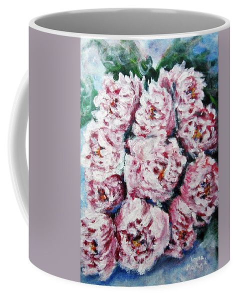 Flowers Coffee Mug featuring the painting Pink Beauties by Vesna Martinjak
