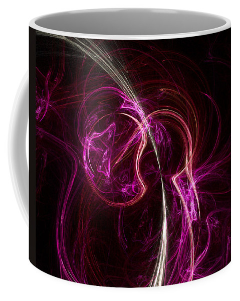 Fractal Coffee Mug featuring the digital art Pink Blume by Susan Kinney
