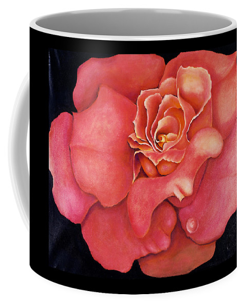 Rose.bloom Coffee Mug featuring the painting Pink Blush by Jordana Sands