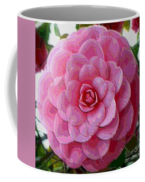Pink Flower Coffee Mug featuring the photograph Pink Camellia Dream by Carol Groenen