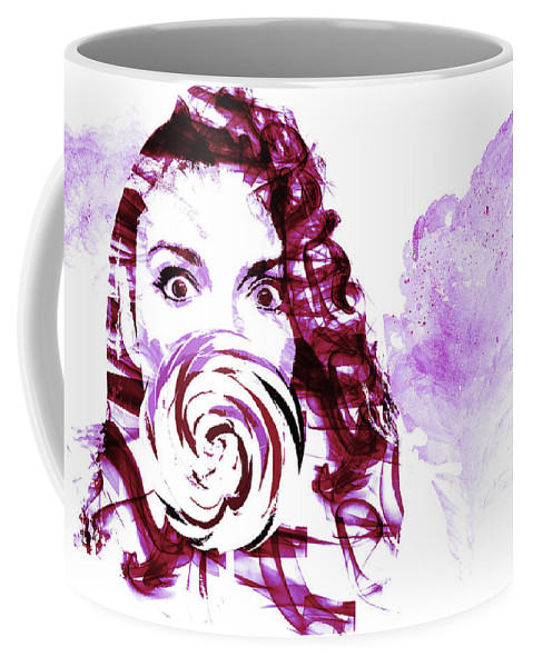 Art Coffee Mug featuring the digital art Pink Candy by Andreea Constantinescu