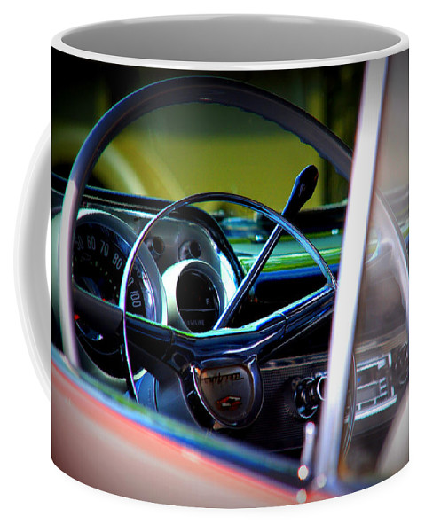 Old American Cars Coffee Mug featuring the photograph Pink Chevy by Susanne Van Hulst