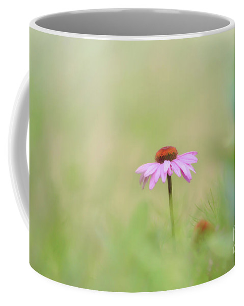 Pink Coneflower Coffee Mug featuring the photograph Pink Coneflower - Flowers Of Summer by Kerri Farley