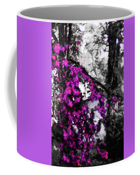 Pink Coffee Mug featuring the photograph Pink Crape Myrtles Abstract by Barbara Searcy