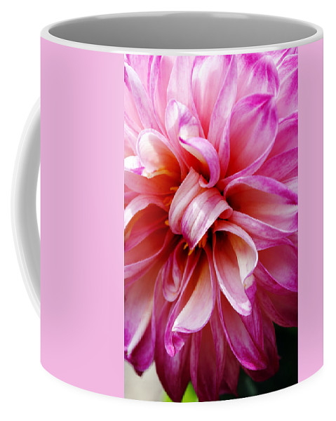 Flower Coffee Mug featuring the photograph Pink Dahlia by Marilyn Hunt